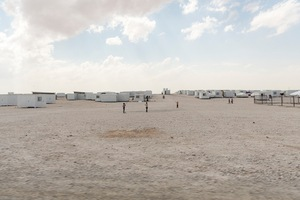 Zaatari RC and the prefab homes that are slowly replacing the tents new arrivals are issued initially in the hope that this coming winter will be a little more bearable. © David Brunetti
