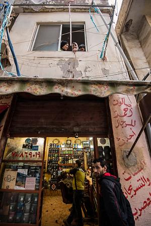 Ahmed Salon for men on Helal Street. 2013 © Gloriann Liu