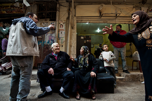A family argument. The brother is pro Fatah and the sister is pro Hamas. 2012 © Gloriann Liu