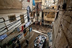 Helal Street. View from Dr. Jamal Hussaini's clinic. 2012 © Gloriann Liu
