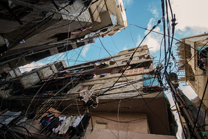 Sky above Shatila Camp. 2013 © Gloriann Liu
