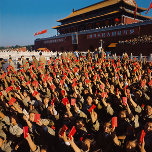 © WENG Naiqiang, Red Guards on Tiananmen Square, Beijing, 1966Courtesy of 798 Photo Gallery, Beijing