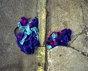 Rainbow clothes (lost/discarded item) © Erica McDonald