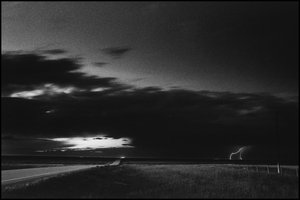 © George Webber - Lightning strike, near Stand Off, 1997