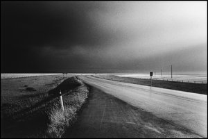 © George Webber - Highway and storm, 2001