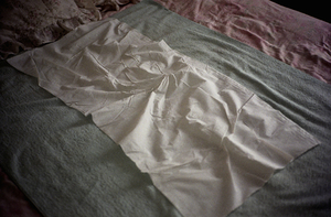 Prostitute's bed, brothel, Slough, UK, 2002, from <i>No Love Lost</i>. © Michael Grieve