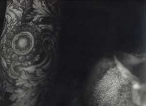 Her Sleeve Tattoo with Cat