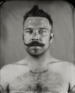 """Jeff."" 8x10""  Wet-plate collodion tintype. © 2010 Keliy Anderson-Staley"