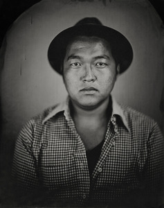 """""""Shimpei."""" 11x14""""  Wet-plate collodion tintype. © 2010 Keliy Anderson-Staley"""