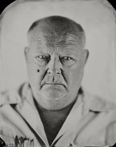 """""""Chuck."""" 8x10"""" Wet-plate collodion tintype. © 2012 Keliy Anderson-Staley"""