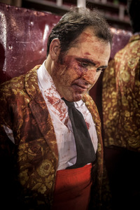 José Gomes, member of the forcados of Évora, is sad after an unsucessful performance.  © Eduardo Leal
