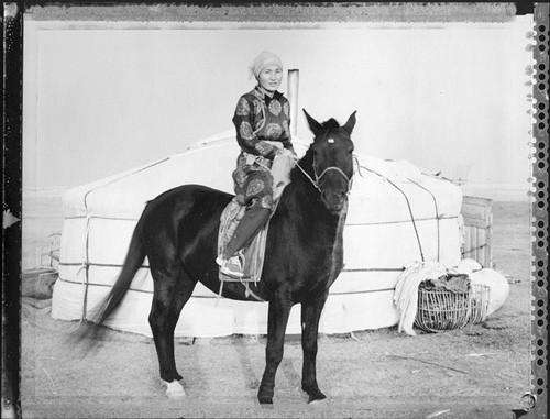 Young Mother Horseman (Nomadic Mongolia #33), 2004. © Elaine Ling