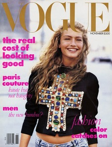 1988 British Vogue cover, first issue edited by Anna Wintour © Peter Lindbergh