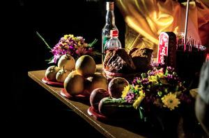 Offerings for the dead,Taoist Ritual© Amrita Chandradas